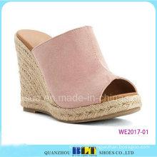 Women Leather Fashion Espadriles Non-Slip Slippers