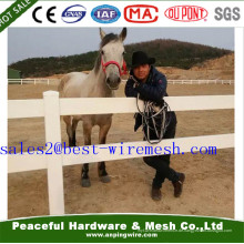 2 & 3 & 4 Schienen Weiß PVC / Vinyl Pferd Zaun, Ranch Zaun