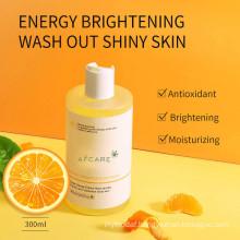Private Label Natural Organic 500ml Apple Aromatic Bath Soap Body Wash OEM Wholesale Liquid Skin Whitening Shower Gel