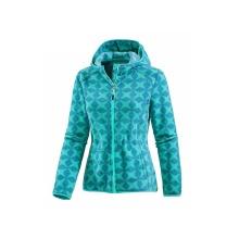 Abrigo de lana estampado de mujer con cremallera