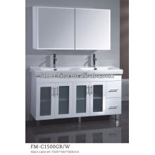 2013 Hangzhou Hot Selling white wooden bathroom furniture