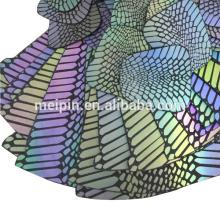 Hoja reflectante colorida de cuero sintético de la PU
