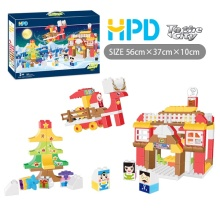 Plastic Educational Christmas Building Blocks