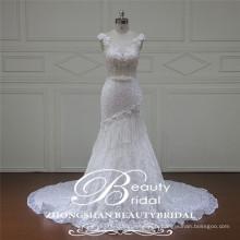 Fiel robe de mariée en sirène de sirène en ivoire en bateau ivoire en Chine 2017