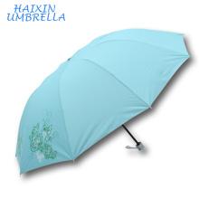 Vente en vrac Chine Fabricant Top Qualité Personnalisé Usine Prix Portable Vert Couleur Fleur Monsoon Parapluies Parapluies Personnalisé