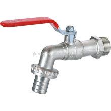 J6015 Nickel plated lever handle Brass Bibcock faucet tap