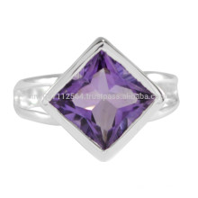 Amethyst Natural Gemstone with 925 Sterling Silver Wedding And Party Wear Ring Jewelry