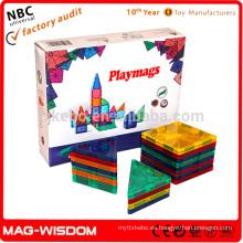 Los nuevos bloques educativos magnéticos del bloque educativo de Playmags 20pcs fijaron