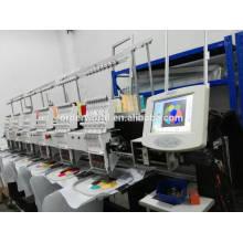 8 machine de broderie d'ordinateur de tête / prix de machine de broderie de chapeau industriel