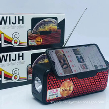 WIJH L8 New Arrival Portable Speaker Fm Radio With Solar Panel Outdoor Blue Tooth Airplay Speaker