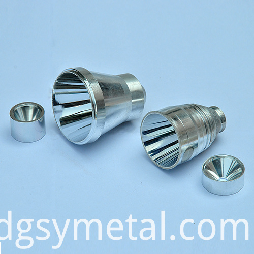 Aluminum metal lighting parts