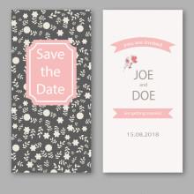 Impresión profesional profesional de la tarjeta de felicitación del estilo romántico, servicio de impresión