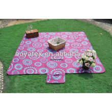 Printed polar fleece waterproof outdoor durable picnic rugs