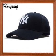 Chapéus de basebol acrílicos do bordado da malha do branco 100%