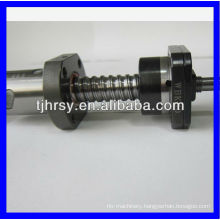 Ball screw with nuts and support bearing