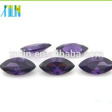 amatista marquesa de color púrpura oscuro suelta cz piedras joyas de zirconia cúbica