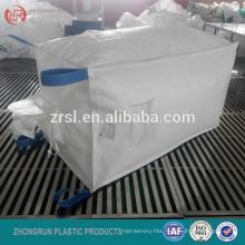 pp circular polypropelene bulk bag, circular panel fibc, with cross corner loops