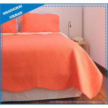 Hellorange Quilt-Set aus massivem Polyester