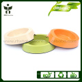 Antiskid bamboo fiber pet bowl made from plant fiber
