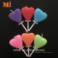 Aniversário disponível personalizado cor personalizada cliente da vela do coração da cor para o bolo