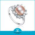 Bague en perle élégante en argent sterling (SH-R0165)