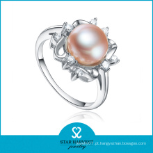 Elegante anel de pérola de prata esterlina (SH-R0165)