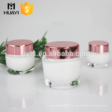 Frasco plástico de creme acrílico cosmético da forma oval de 15g 30g 50g