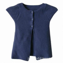 Baby sweater, made of 100% cotton, available in navy blue
