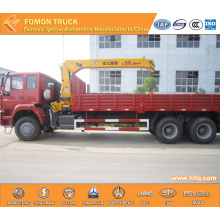 SINOTRUK 6*4 12tons lorry truck mounted crane