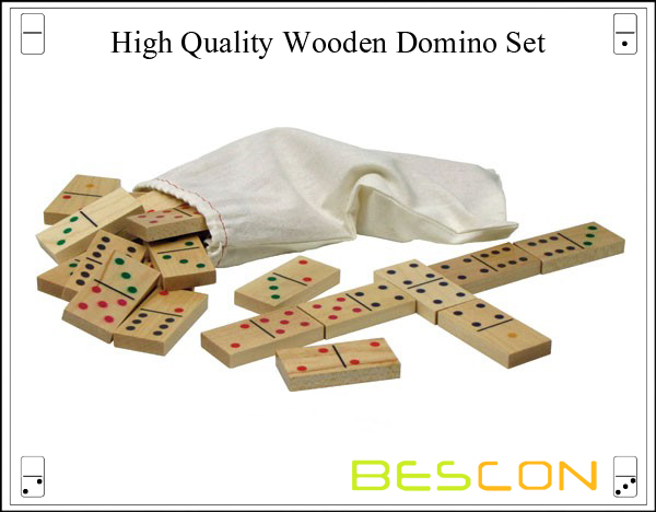 High Quality Wooden Domino Set-2