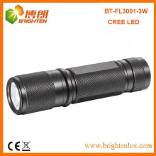 Factory Supply EDC High Powered 180lumen Aluminum XPE 3W CREE LED Torch Flashlight
