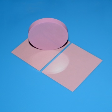 High Dielectric Polished Pink Alumina Ceramic Substrates