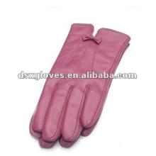 Pink Soft Mulheres Luvas de Couro