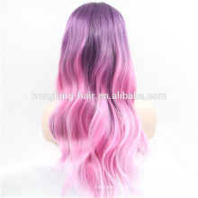 Fashion Beautiful Colorful Ombre Synthetic Hair Wig Lace Front Wig
