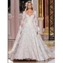 LS0126 Ver através de rendas rendas rendas vestidos de noiva rendas vestidos de noiva vestidos de noiva vestidos de noiva manga longa