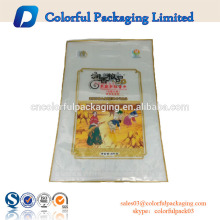 Custom printed 5 KG plastic rice bags for packing