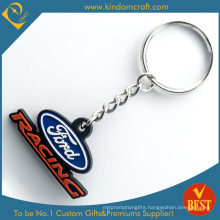 Factory Wholesale Customized Car Brand Promotional PVC 3D Key Chain as Souvenir Gift