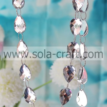 Mirror Teardrop Beaded Garland voor kroonluchterprisma's