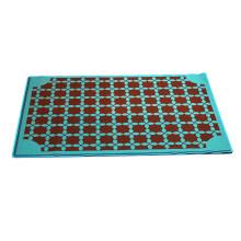 China Manufacturer Flocking Classical rubber back Bath Mats Bathroom Textiles