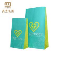 Réutilisez les sacs de papier de pharmacie imprimés par conception faite sur commande de logo d'emballage de Fda pour le paquet d'hôpital
