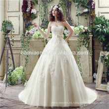 2017 apliques de tafetán clásico sin tirantes de lentejuelas vestido de novia 2017 apliques de tafetán sin tirantes clásico de lentejuelas vestido de novia