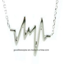 Top-Verkauf und Mode Hot Rose Gold überzog Herzschlag Halskette Heartbeat Statement Halskette N6633