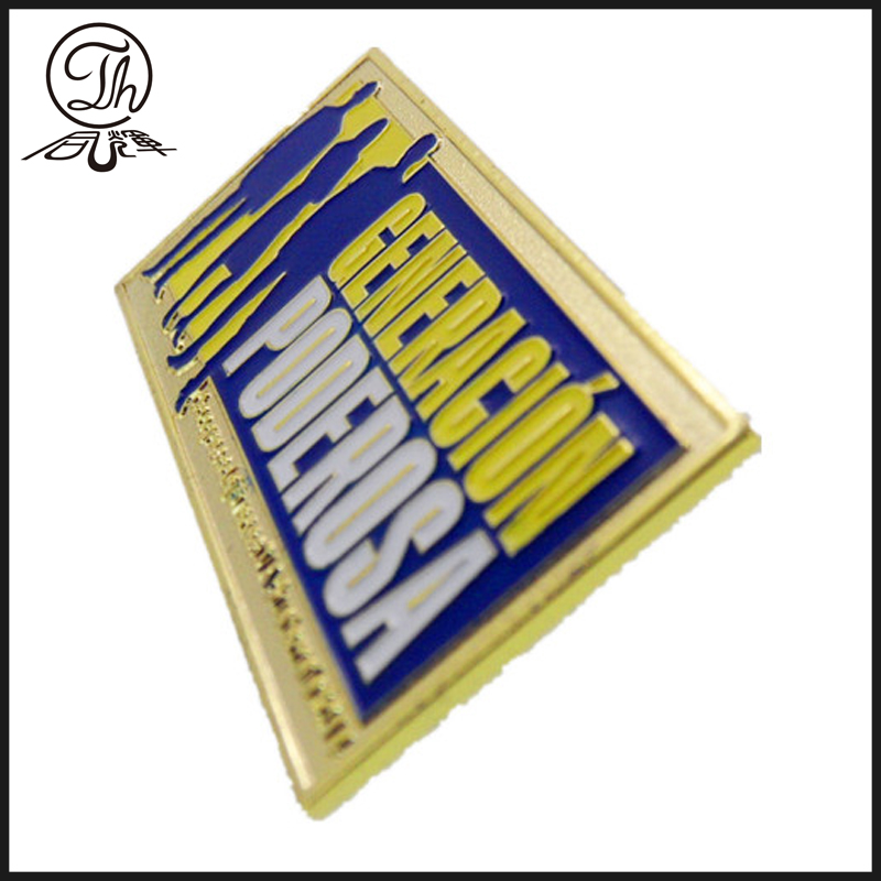 Gold Football club pin badges metal
