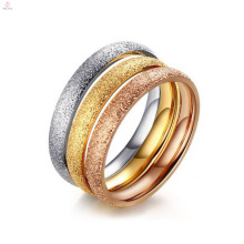 Beauty Plain Stainless Steel Wedding Band Rings For Ladies