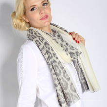 100% superfeiner wasserlöslicher Wolle gedruckter Schal