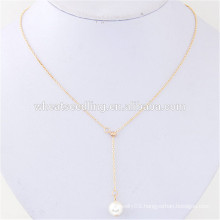 bulk sex clavicle cheap custom simple design pearl fine jewelry necklace