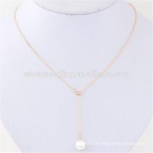 Clavícula de sexo a granel barato personalizado simples design pérola colar de jóias finas
