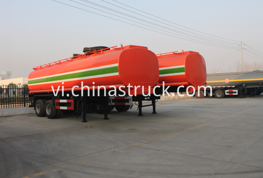 2 axle 25Ton fuel tank semi-trailer
