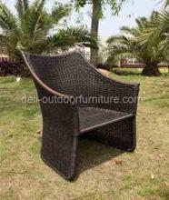 Buiten hoge terug moderne PE rotan tuin stoel