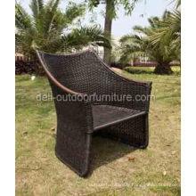 Chaise de jardin rotin PE retour moderne haute extérieure